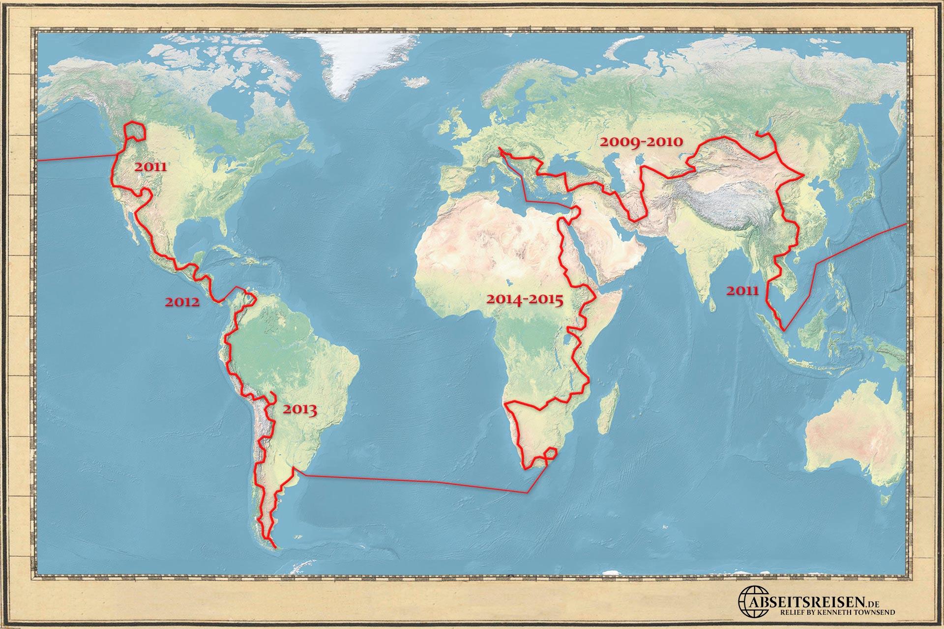 Reiseroute abseitsreisen