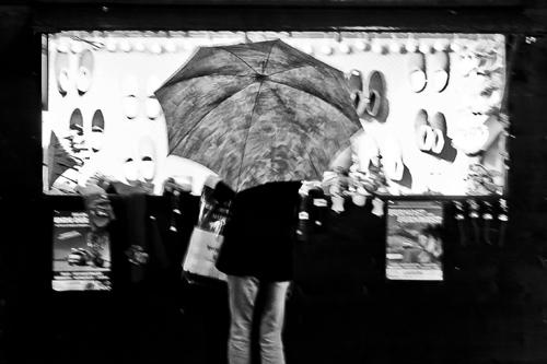 Regenwetter am Weihnachtsmarkt